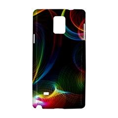 Abstract Rainbow Twirls Samsung Galaxy Note 4 Hardshell Case