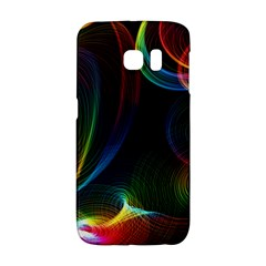 Abstract Rainbow Twirls Galaxy S6 Edge by Nexatart