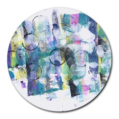Background Color Circle Pattern Round Mousepads by Nexatart