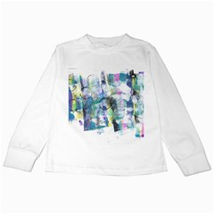 Background Color Circle Pattern Kids Long Sleeve T Shirts