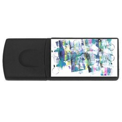 Background Color Circle Pattern Usb Flash Drive Rectangular (4 Gb) by Nexatart
