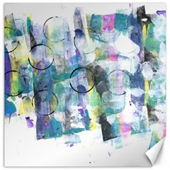 Background Color Circle Pattern Canvas 20  X 20   by Nexatart