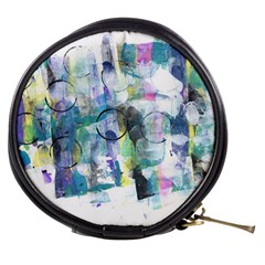 Background Color Circle Pattern Mini Makeup Bags by Nexatart