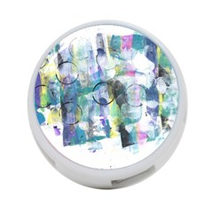 Background Color Circle Pattern 4 Port Usb Hub (two Sides)  by Nexatart