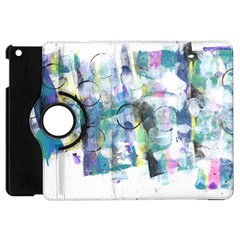 Background Color Circle Pattern Apple Ipad Mini Flip 360 Case
