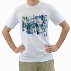 Background Color Circle Pattern Men s T Shirt (white)