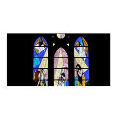 Art Church Window Satin Wrap by Nexatart