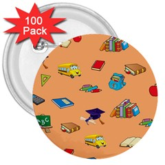 School Rocks! 3  Buttons (100 pack)  by athenastemple