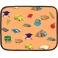School Rocks! Double Sided Fleece Blanket (mini)  by athenastemple