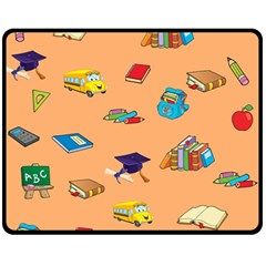 School Rocks! Fleece Blanket (medium)  by athenastemple
