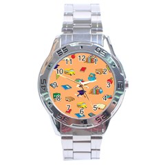 School Rocks! Stainless Steel Analogue Watch by athenastemple