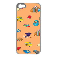 School Rocks! Apple Iphone 5 Case (silver) by athenastemple