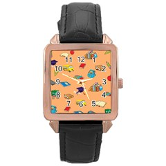 School Rocks! Rose Gold Leather Watch  by athenastemple