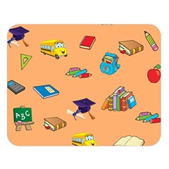 School Rocks! Double Sided Flano Blanket (large)  by athenastemple