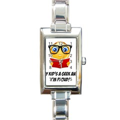 Geek Kid Rectangle Italian Charm Watch by athenastemple