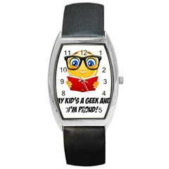 Geek Kid Barrel Style Metal Watch by athenastemple