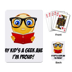 Geek Kid Playing Card by athenastemple