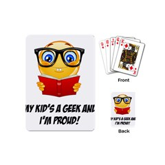 Geek Kid Playing Cards (mini)  by athenastemple