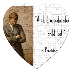 A Child Is Miseducated    Jigsaw Puzzle (heart) by athenastemple