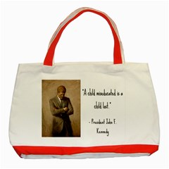 A Child Is Miseducated    Classic Tote Bag (red) by athenastemple