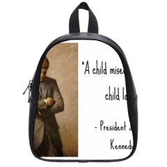 A Child Is Miseducated    School Bags (small)  by athenastemple