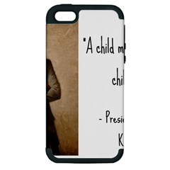 A Child Is Miseducated    Apple Iphone 5 Hardshell Case (pc+silicone) by athenastemple