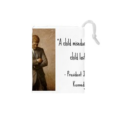 A Child Is Miseducated    Drawstring Pouches (small)  by athenastemple
