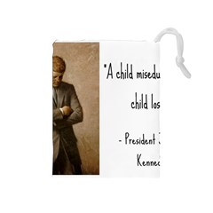 A Child Is Miseducated    Drawstring Pouches (medium)  by athenastemple