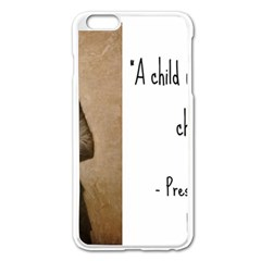 A Child Is Miseducated    Apple Iphone 6 Plus/6s Plus Enamel White Case by athenastemple