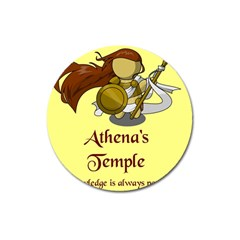Athena s Temple Magnet 3  (round) by athenastemple