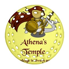 Athena s Temple Ornament (round Filigree) by athenastemple