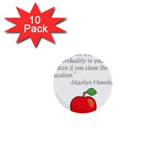 Fruit Of Education 1  Mini Buttons (10 Pack)  by athenastemple