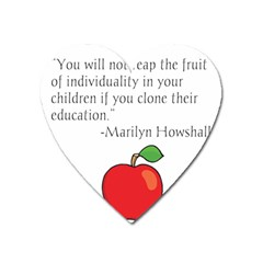Fruit of Education Heart Magnet by athenastemple