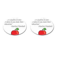 Fruit Of Education Cufflinks (oval) by athenastemple