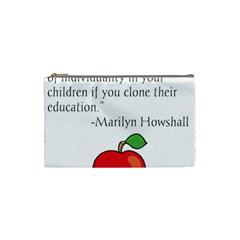 Fruit Of Education Cosmetic Bag (small)  by athenastemple