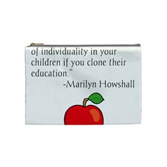 Fruit Of Education Cosmetic Bag (medium)  by athenastemple