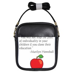Fruit Of Education Girls Sling Bags by athenastemple