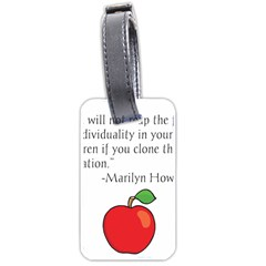 Fruit Of Education Luggage Tags (one Side)  by athenastemple
