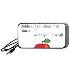 Fruit Of Education Portable Speaker (black) by athenastemple