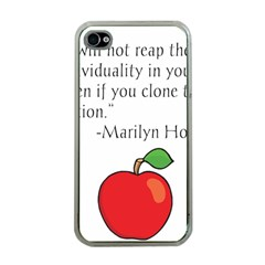 Fruit Of Education Apple Iphone 4 Case (clear) by athenastemple