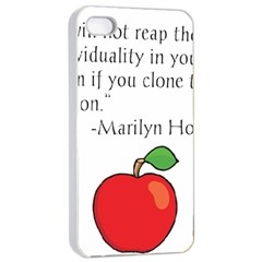Fruit Of Education Apple Iphone 4/4s Seamless Case (white) by athenastemple