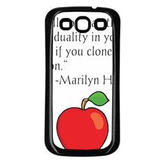 Fruit Of Education Samsung Galaxy S3 Back Case (black) by athenastemple