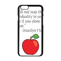 Fruit Of Education Apple Iphone 6/6s Black Enamel Case by athenastemple