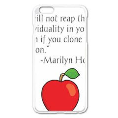 Fruit Of Education Apple Iphone 6 Plus/6s Plus Enamel White Case by athenastemple