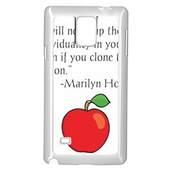 Fruit Of Education Samsung Galaxy Note 4 Case (white) by athenastemple