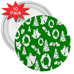 Backdrop Background Card Christmas 3  Buttons (10 Pack)