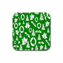 Backdrop Background Card Christmas Rubber Square Coaster (4 Pack)  by Nexatart