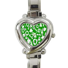 Backdrop Background Card Christmas Heart Italian Charm Watch by Nexatart