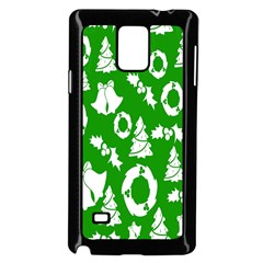 Backdrop Background Card Christmas Samsung Galaxy Note 4 Case (black)