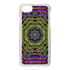 Wonderful Peace Flower Mandala Apple Iphone 7 Seamless Case (white) by pepitasart